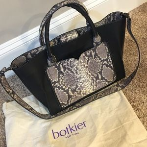 Botkier, NY Leather and Snakeskin tote bag
